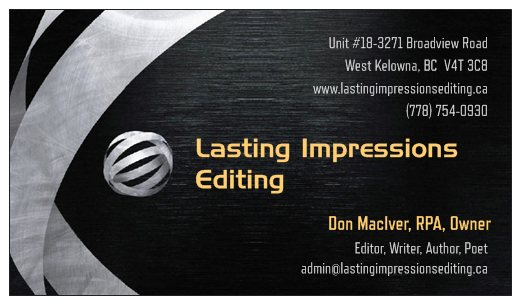 © Lasting Impressions Editing 2014